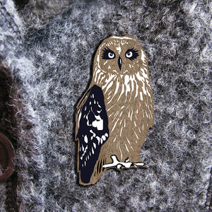 OWL WILDER  BROOCH