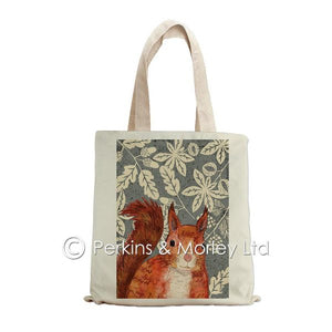 RED SQUIRREL WILD WOOD TOTE BAG