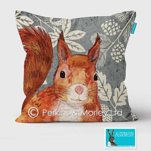 RED SQUIRREL WILD WOOD CUSHION