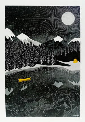 NIGHT PADDLE - Ruth Thorp Print