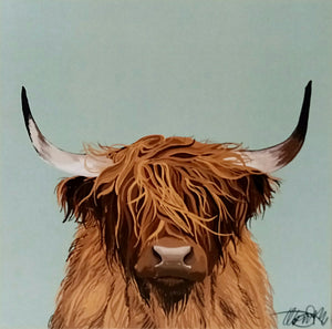HIGHLAND COW PRINT by Ella Bruty