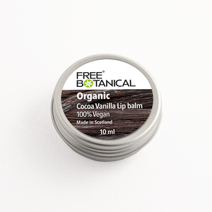 COCOA VANILLA ORGANIC LIP BALM by Free Botanical  10ml