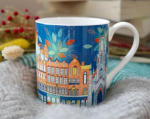 SCENES OF EDINBURGH FINE BONE CHINA MUG by Rachelle Wong
