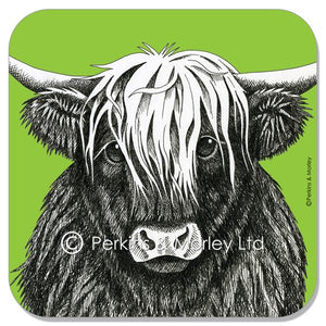 HIGHLAND COW INK COASTER
