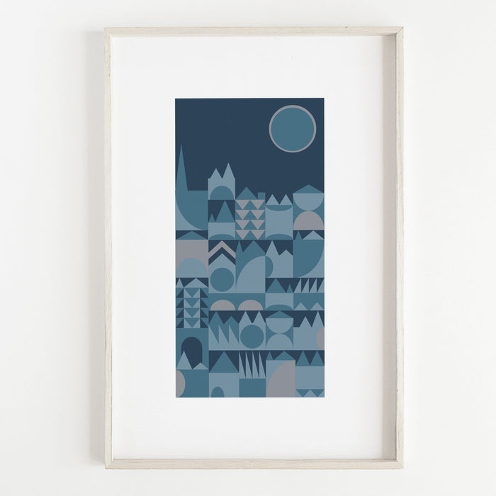 MOONLIGHT PRINT by Jenni Douglas