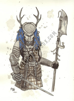 JACOBITE PREDATOR ILLUSTRATION EDINBURGH ARTIST LYNSEY HUTCHINSON
