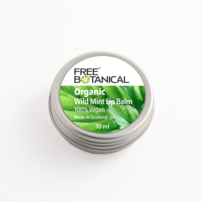 WILD MINT ORGANIC LIP BALM by Free Botanical  10ml