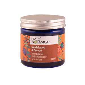 SANDALWOOD & ORANGE REHYDRATE ME  FACIAL MOISTURISER by Free Botanical      60ml