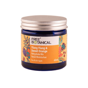 YLANG YLANG & SWEET ORANGE REHYDRATE ME  FACIAL MOISTURISER by Free Botanical      60ml