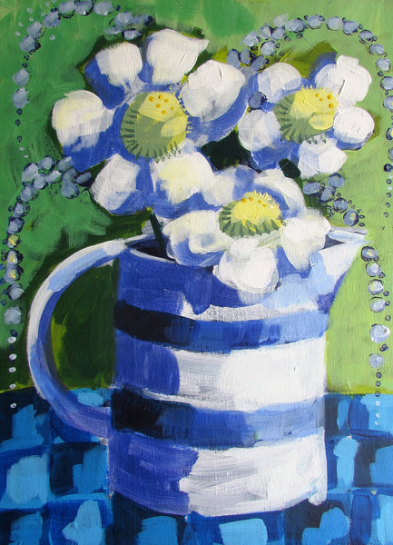 Blue Jug , Downloadable Guided Painting, new for November