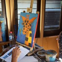 Geoffrey : downloadable Guided Painting class plus how to video with narration