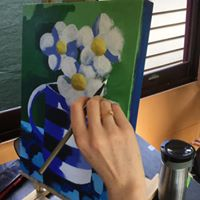 Load image into Gallery viewer, Blue Jug : Downloadable Guided Painting : step by step instructions plus how to video and narration