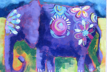Load image into Gallery viewer, Enid the Elephant  : Downloadable Guided Painting : step by step instructions plus how to video and narration