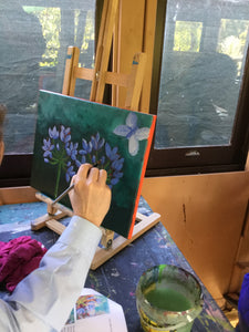 Agapanthus :  Downloadable Guided Painting : step by step instructions plus how to video and narration