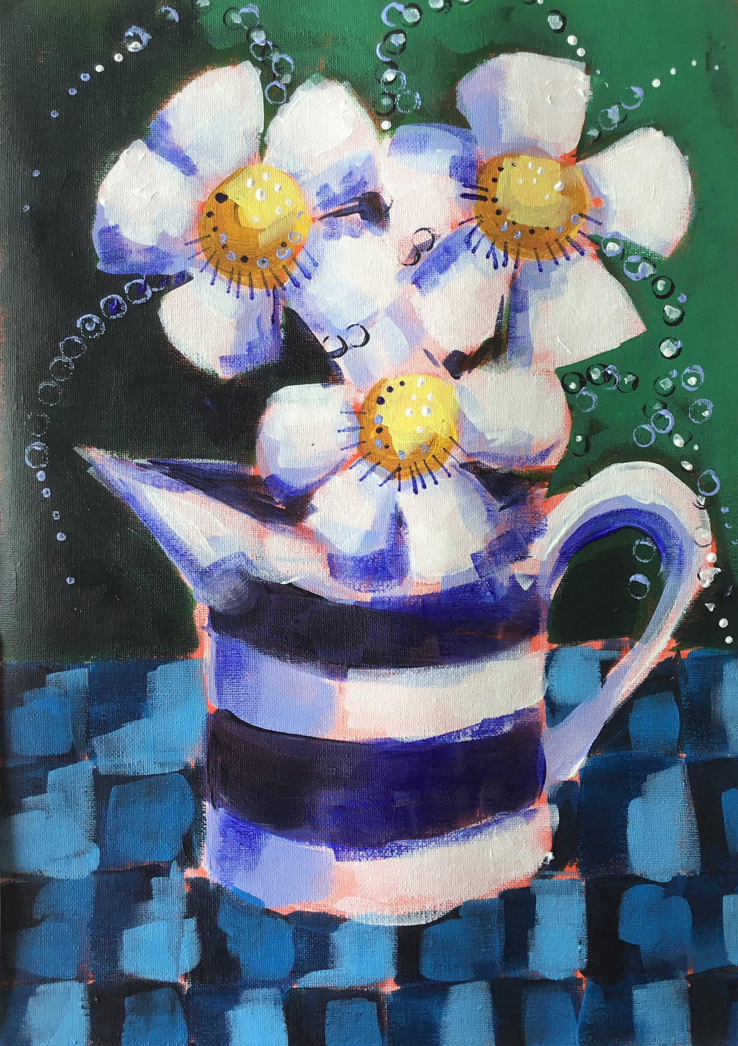 Blue Jug : Downloadable Guided Painting : step by step instructions plus how to video and narration