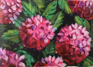 Hydrangeas:  Downloadable Guided Painting : step by step instructions plus how to video and narration