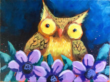 Load image into Gallery viewer, Little Owl : Downloadable Guided Painting : step by step instructions plus how to video and narration