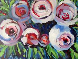 Floral :  Downloadable Guided Painting : step by step instructions plus how to video and narration
