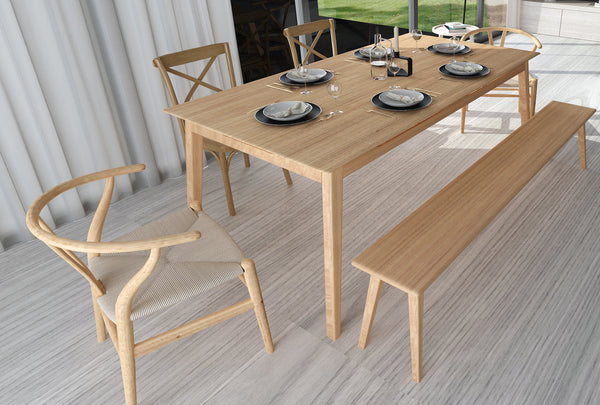 Hanm Folks Solid Oak Dining Table
