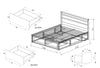 Koeler Queen Flexi-Slat Storage Bed Frame