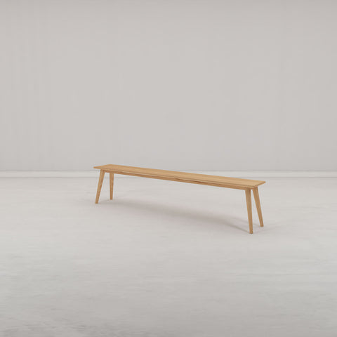 Hanm Folks Solid Oak Bench