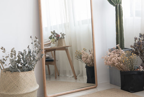 Hanm Ercol Wooden Floor Mirror - Oakano Furniture