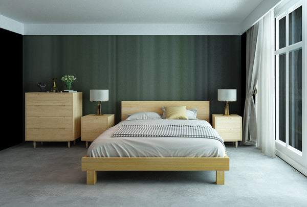 Norwish Queen Slat Bed Frame - Oakano Furniture