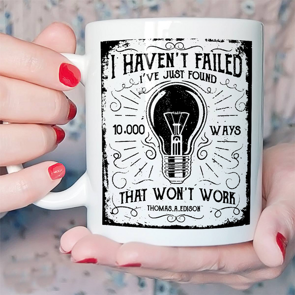 10000 WAYS THOMAS EDISON SCIENCE mug