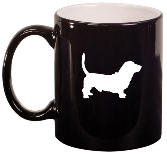 11oz Ceramic Coffee Tea Mug Glass Cup Basset Hound