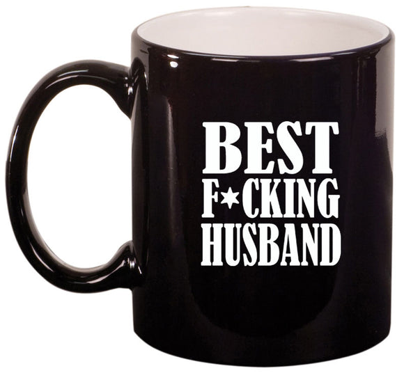 11oz Ceramic Coffee Tea Mug Glass Cup Best F ing Husband