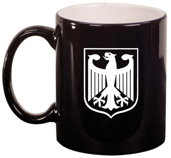 11oz Mug Glass Cup Coat of Arms Germany German Eagle