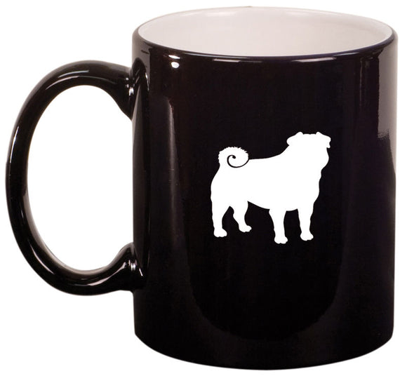 11oz Ceramic Coffee Tea Mug Glass Cup Pug