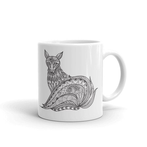 Boho Bohemian Fox Novelty Mug