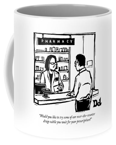 A Pharmacist Speaks To A Customer Coffee Mug
