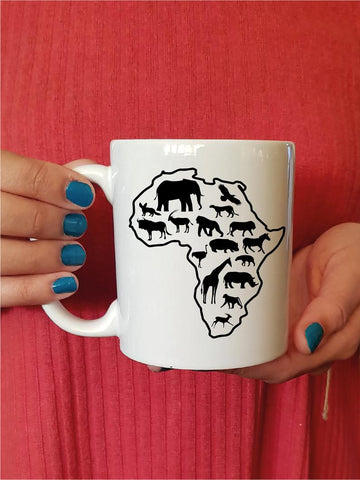 Africa Map Mugs - Unique coffee mugs, Coffee Mug Gift