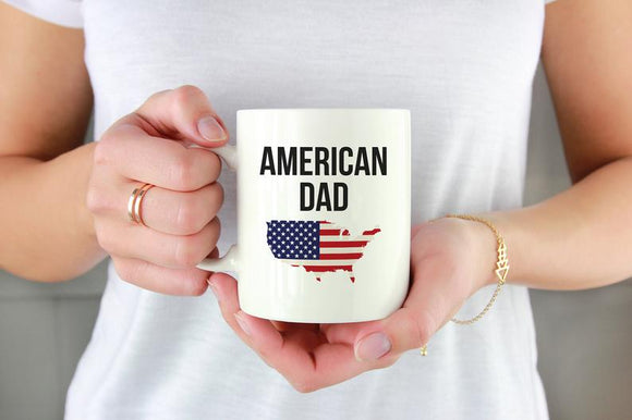 American Dad Mug Independence Day USA Coffee Mug