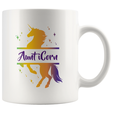 Aunt Coffee Mug, Unicorn Coffee Mug, Gift For Aunt