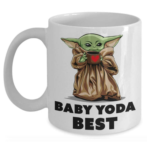 Baby Yoda Best Valentine Gift White Mug Happy Valentine's Day