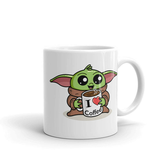 Baby Yoda Mug | Coffee Mug | Cute Baby Yoda Parody | Star Wars Fan | Coffee Cup