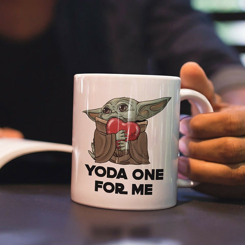Baby Yoda one for me, Birthday Gift Valentine's Day white Mug