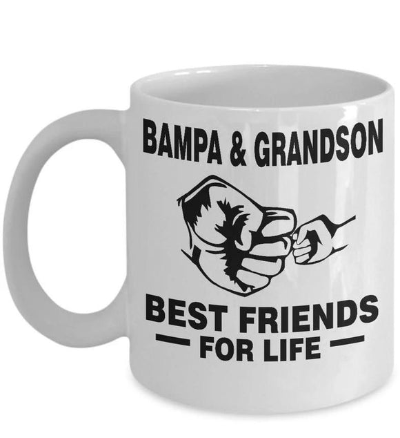 BAMPA & GRANDSON- BEST FRIEND DOR LIFE COFFEE MUG