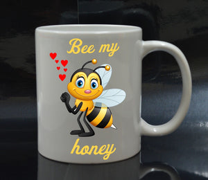 Bee my honey - 11oz cute bee mug valentines love birthday Christmas xmas gift - Eureka Mugs