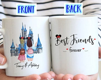 Best Friend Mug Gift Forever BFF Birthday For Coffee