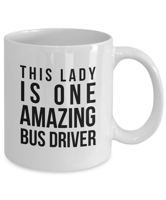 Bus Driver Appreciation Gift for Women Her Coffee Mug School Thank You City Chri