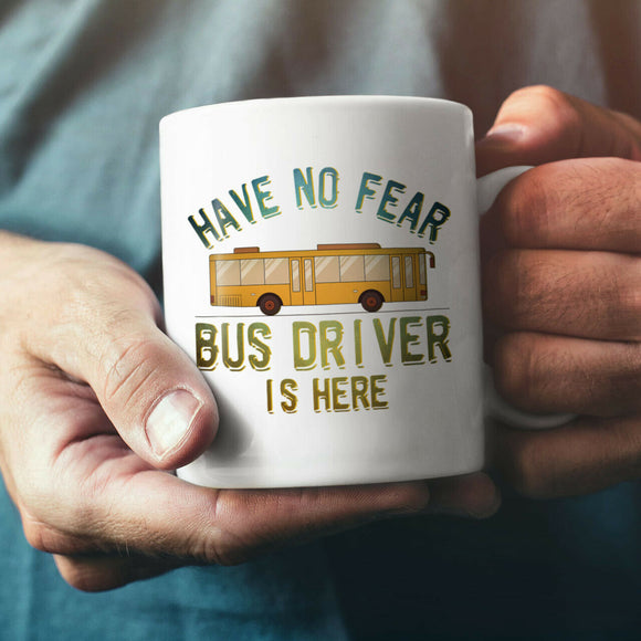 Bus Driver Here NEW White Tea Coffee Mug 11oz