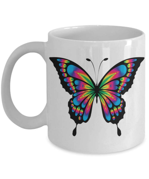 Butterfly on Mug, Colorful Butterfly Mug