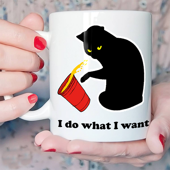 Cat Do What I Want Red Cup