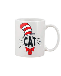 Cat In The Hat Ceramic Coffee Mug 11 oz Funny Tea Gift Mug Cup - Eureka Mugs