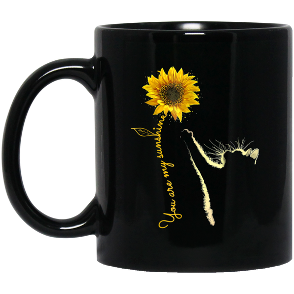 Cat Sunflower You Are My Sunshine Mug