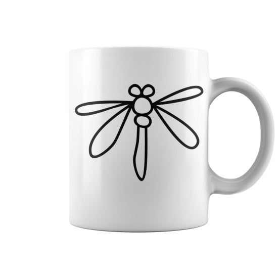 Children's Drawings: Dragonfly - Coffee Mug